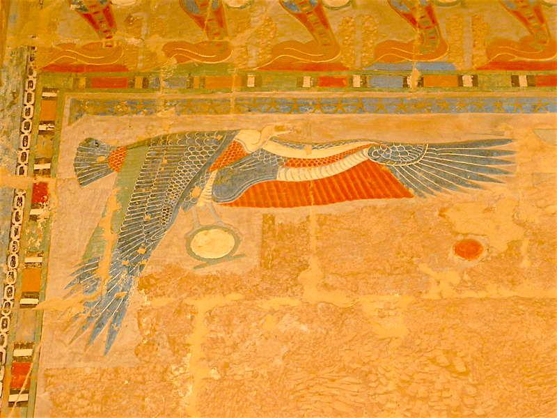 Nekhbet wearing the Omega/Shen sign