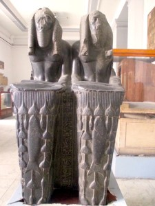 double statue of Amenemhat III- Cairo Museum- by Antoine Gigal