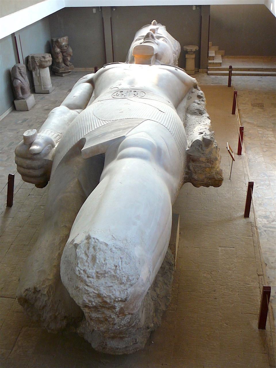 statue of Ramses II in Memphis by Gigal