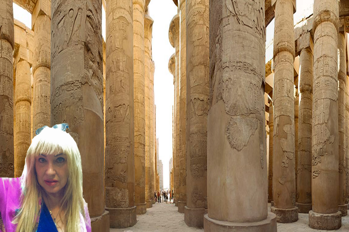 Antoine Gigal in Karnak temple