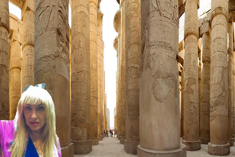 Antoine Gigal in Karnak temple