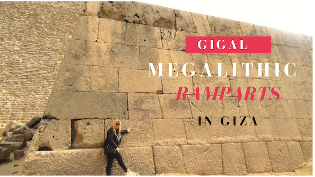 Megalithic walls in Giza