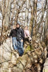 oben im Kastanienbaum...