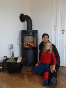 wenns kalt ist tut die Wärme gut beim Feuer...