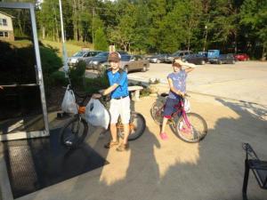 Unterwegs mit den Fahrrädern...