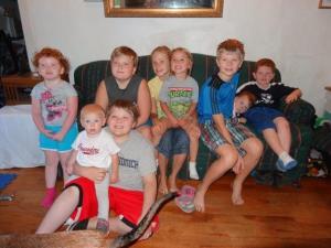 Die ganze Kinderbande bei Heidi und Familie...