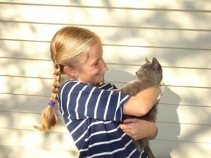 Und das ist Mora... die Katzen hatten noch keine Namen... Julia durfte ihnen die Namen geben...