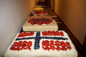 Die Norweger sind Meister mit ihren Torten...