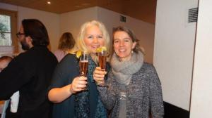 Meine norwegische Freundin hier in der Schweiz...