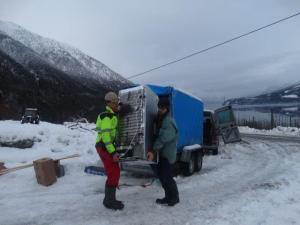 Umziehen und transportieren im Winter ist nicht der idealste Zeitpunkt aber manchmal geht es nicht anders! :-)