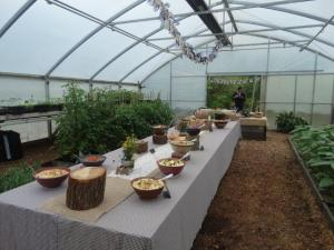 Das Buffet im Greenhouse...