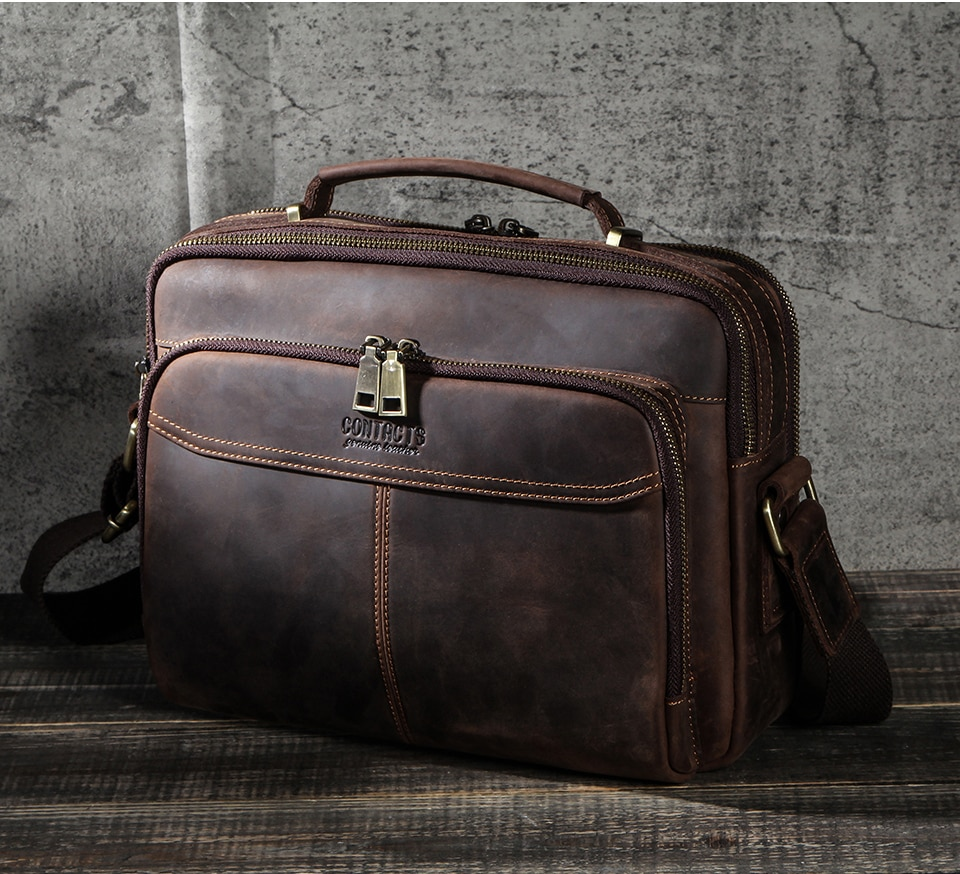 Men's Solid Leather Briefcase