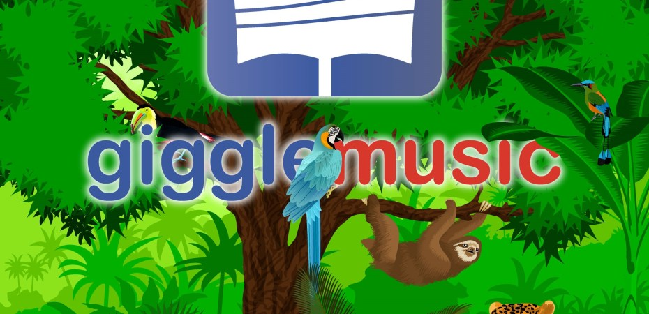 gigglemusic logo and logotype in the jungle - gigglemusic is the best app for musicians