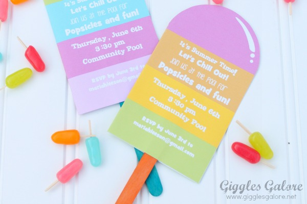 popsicle invitations giggles galore