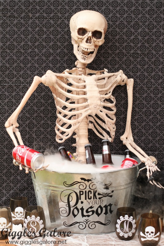 Pick Your Poison Drink Bucket with Skeleton