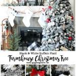Black And White Buffalo Plaid Farmhouse Christmas Tree Giggles Galore