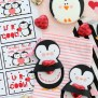 Diy Cricut Made Penguin Valentine Card Giggles Galore