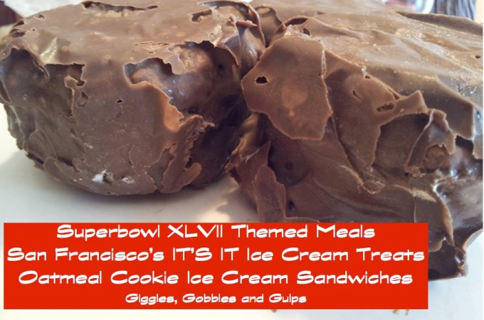 Super Game XLVII Themed Meals: San Francisco's IT'S IT Ice Cream Sandwich