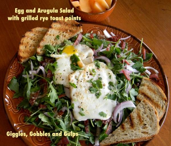 egg and arugula salad 1