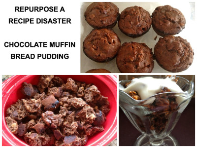 5 Days of Back To School Breakfast Ideas – Chocolate Muffin Bread Pudding (Day #5)