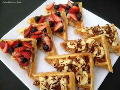 5 Days of Back To School Breakfast Ideas – Breakfast Waffle Bruschetta (Day #4)