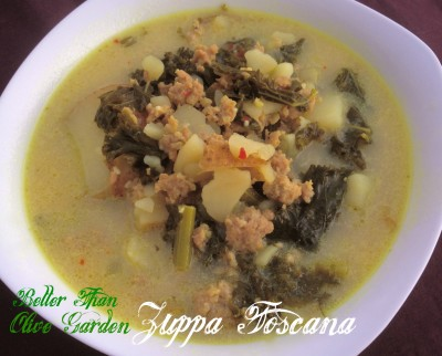 Better than Olive Garden: Zuppa Toscana (Sausage, Potato and Kale Soup)