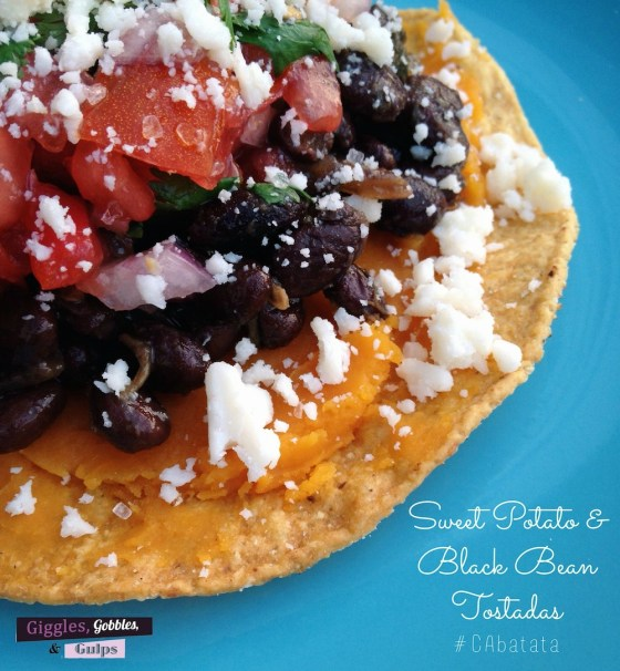 sweet potato black bean tostada