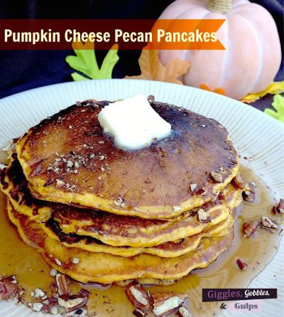 Pumpkin Cheese Pecan Pancakes