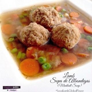 lamb sopa de albondigas