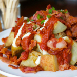 Patatas Bravas con Bacon (Spicy Potatoes with Bacon)