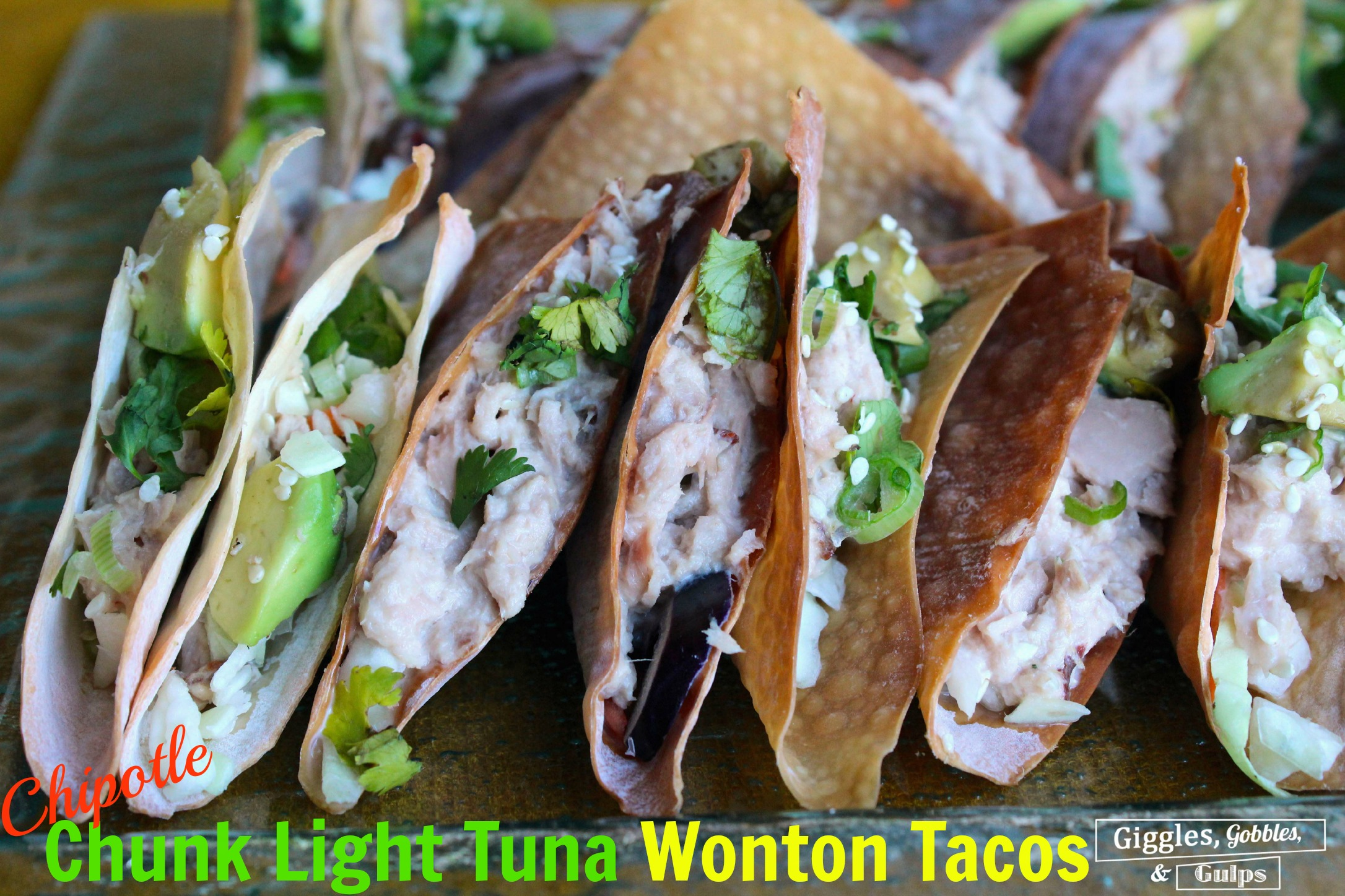 Chunk Light Tuna Wonton Tacos