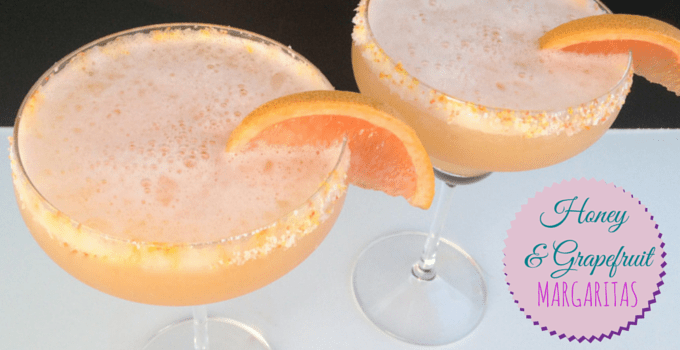 Pink Grapefruit and Honey Margaritas