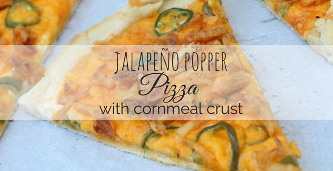 Jalapeño Popper Pizza with Cornmeal Crust