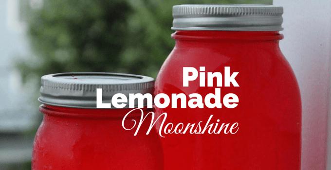 Pink Lemonade Moonshine Cocktail
