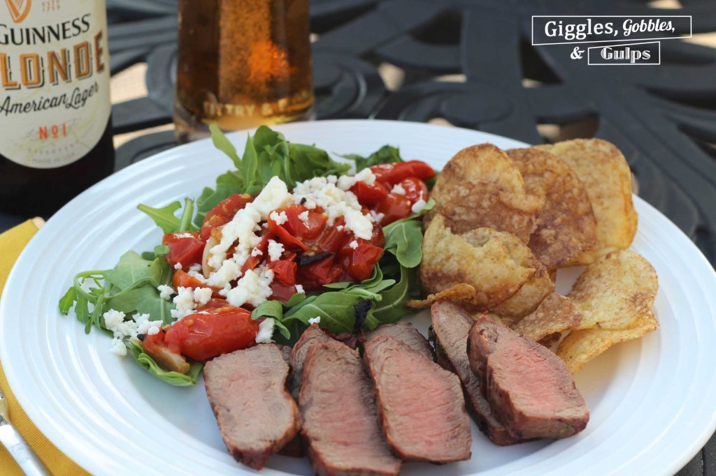 beer marinated flat iron steak7