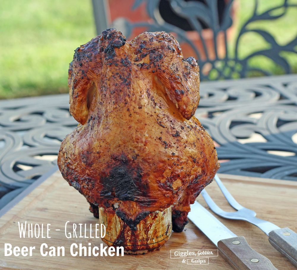 grilled beer can chicken - 3