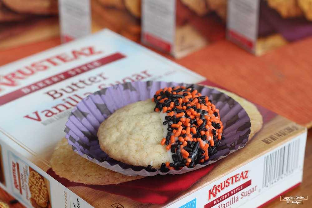 halloween dipped sprinkled cookies3