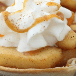 Individual Baked Tortilla Apple Pie Cups