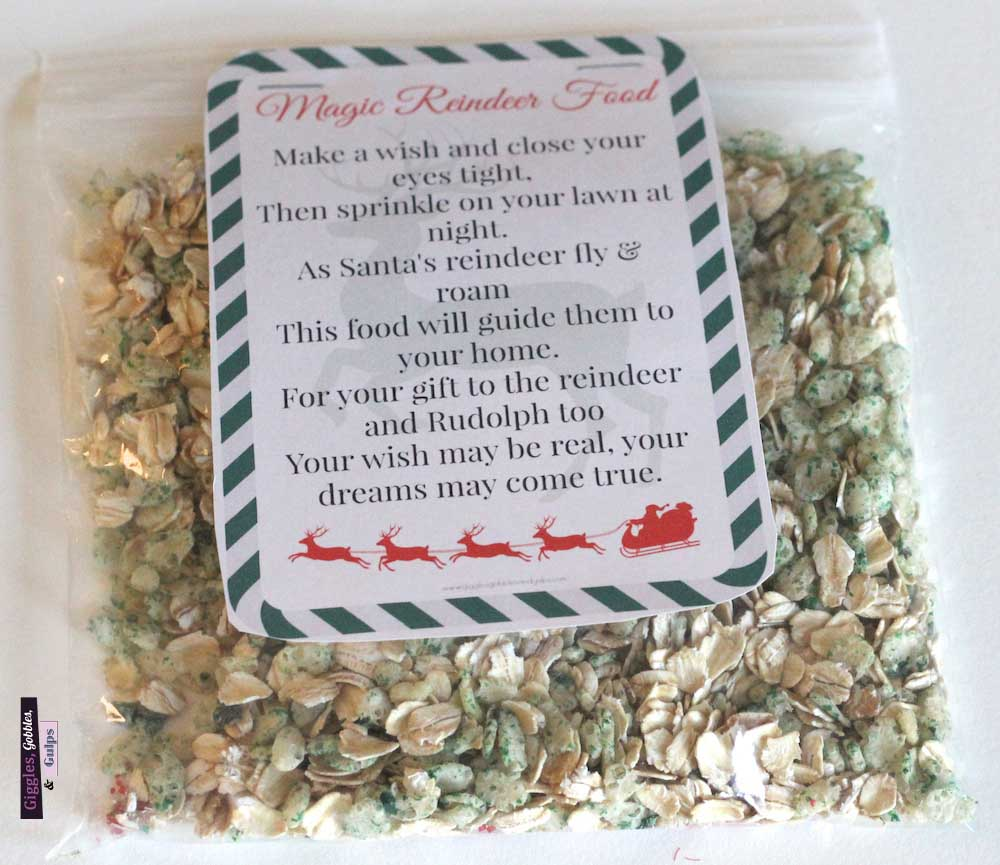 magic reindeer food recipe printable