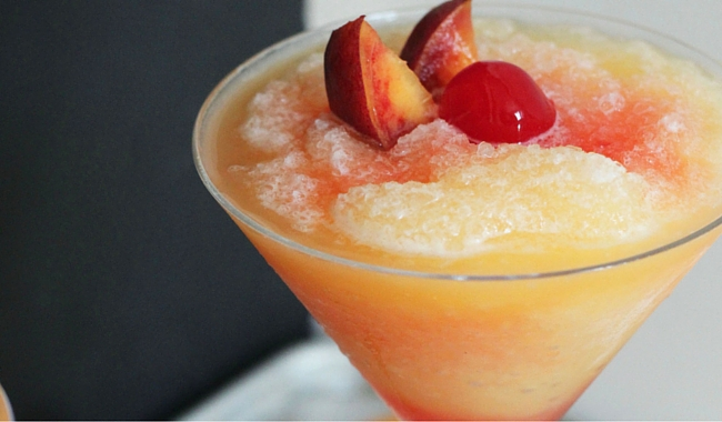 Alizé Peach Cocktail | The Peach Fuzz Slush