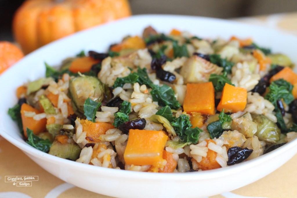 autumn harvest rice bowl