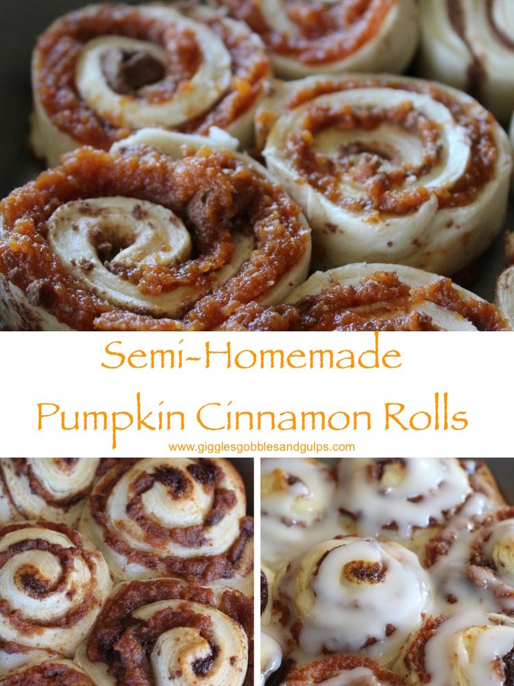 Semi-Homemade Pumpkin Cinnamon Rolls