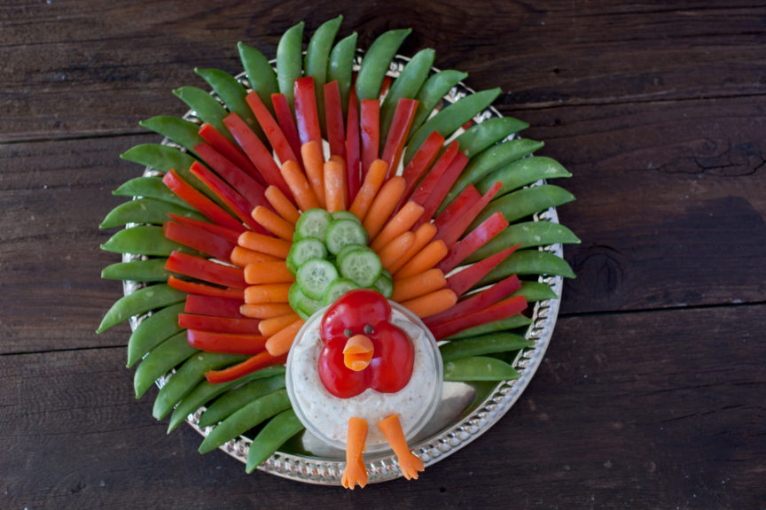 turkey-veggie-platter-3575-864x576 Thanksgiving Treats to Make with the Kids