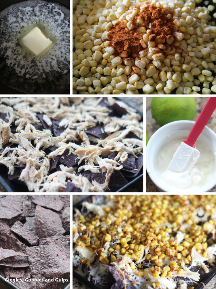 mexican street corn nachos collage