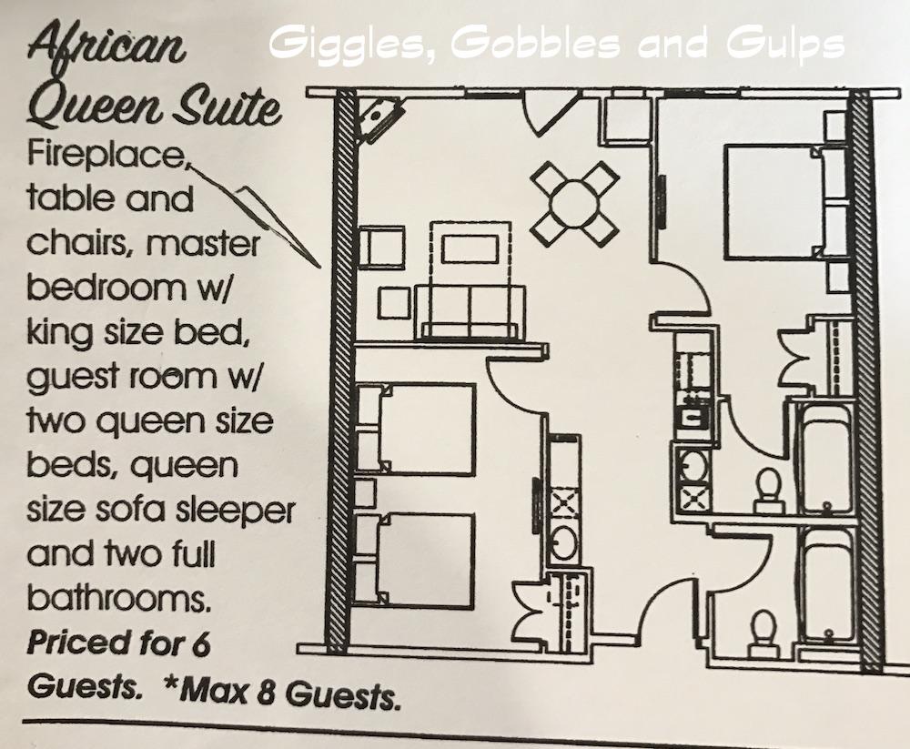 Layout of African Queen Suite