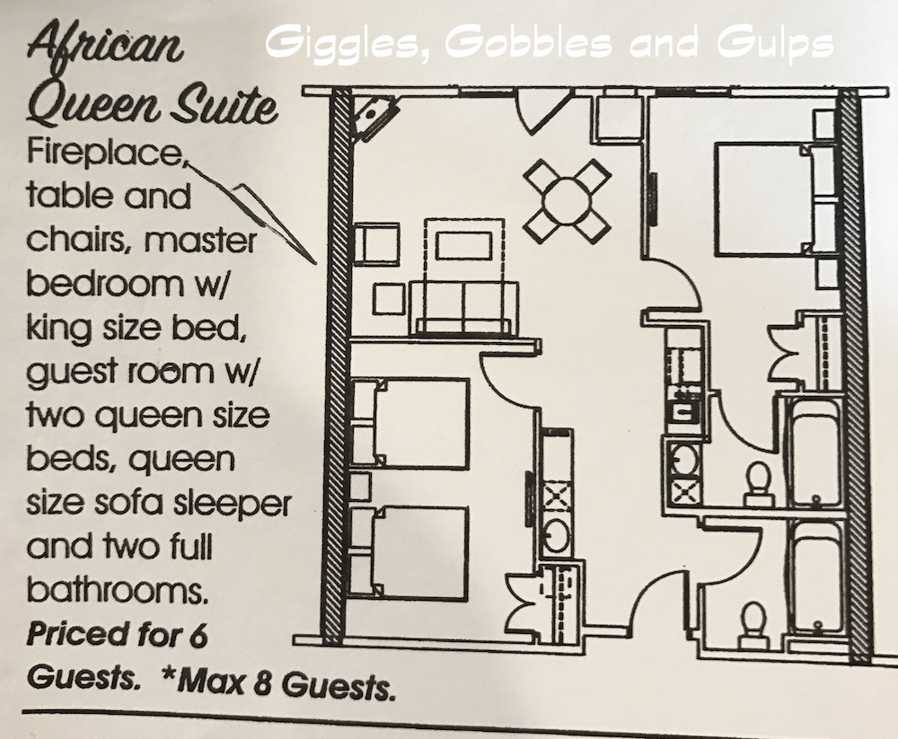 Layout of African Queen Suite
