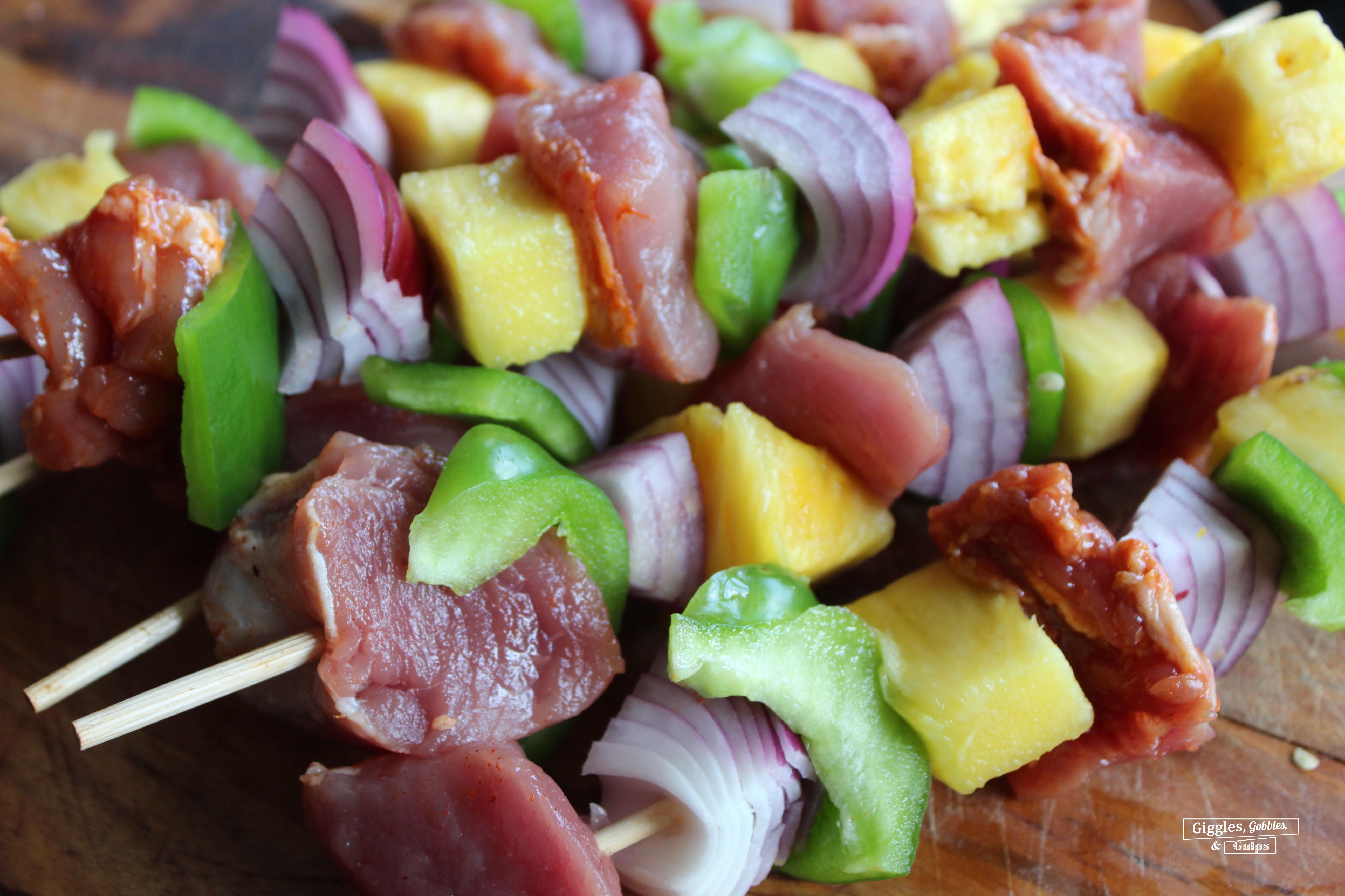 Hawaiian Pork Kabobs