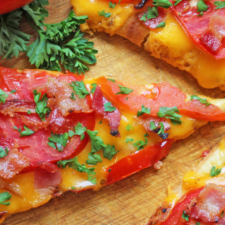 tomato bacon flatbread cover