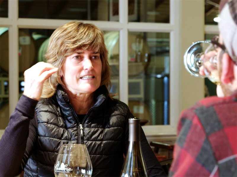 denise_kalei_tasting_wine