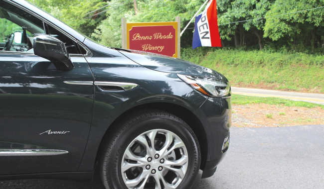 Penns Woods Winery Visit in the Buick Enclave Avenir